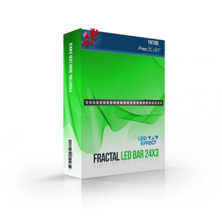Fractal LED Wall Wash 24x3W BAR