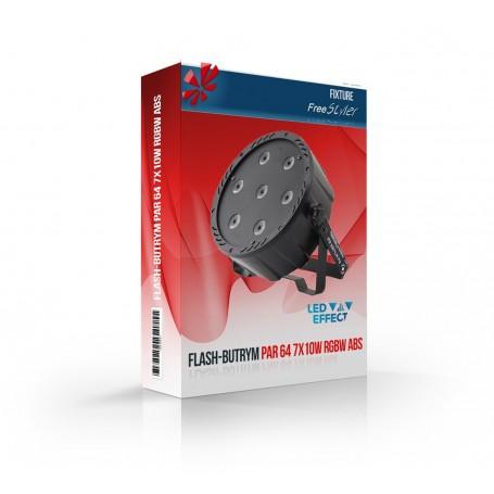 Flash LED PAR 64 7x10W RGBW 4in1 ABS (Remote)