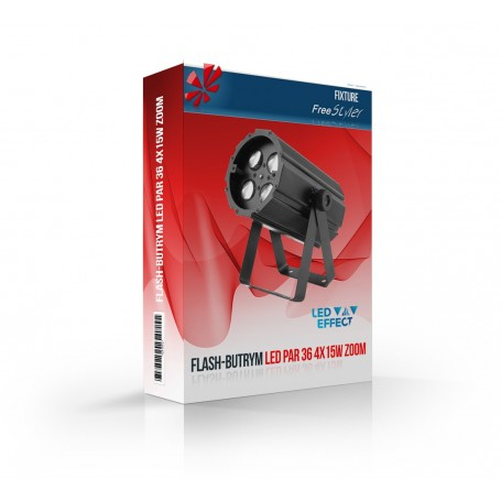 Flash LED PAR 36 4x15W 4in1 ZOOM