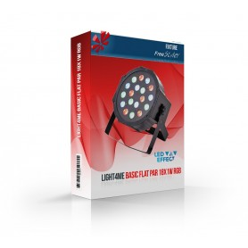 Light4me Basic Flat PAR 18x1W RGB