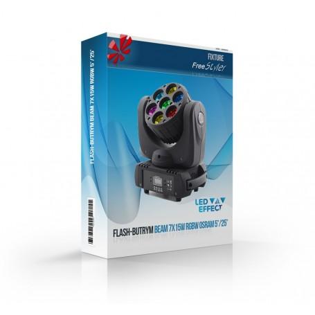 Flash LED BEAM 7x15W RGBW 4in1 OSRAM 5°/25°