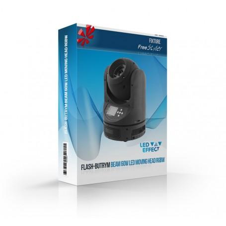 Flash BEAM 60W LED Moving Head RGBW 4in1 Osram