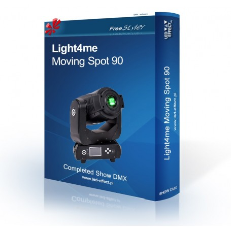 Light4me Moving Spot 90 SHOW DMX