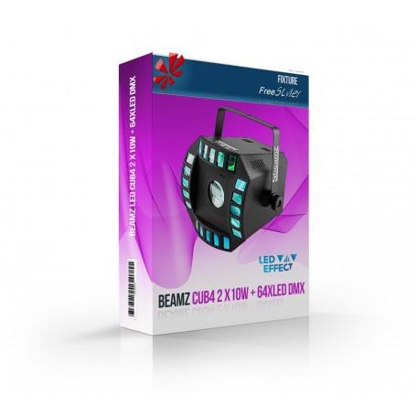 BeamZ LED Cub4 2 x10W + 64xLED DMX