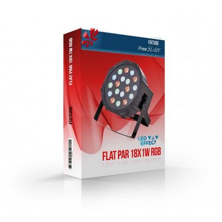 Flat PAR 18x1W RGB