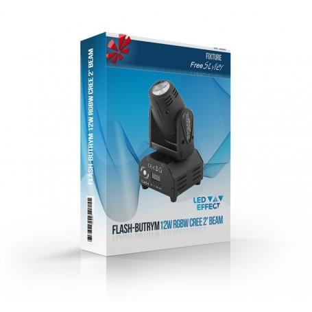 Flash Moving Head 12W RGBW CREE 2° BEAM