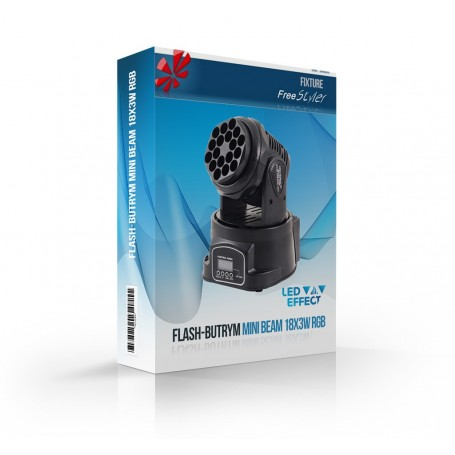 Flash MOVING HEAD MINI BEAM 18x3W RGB CREE