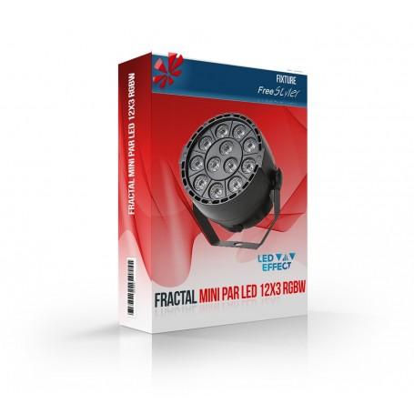 Fractal Mini PAR LED 12x3, 12x1 RGBW