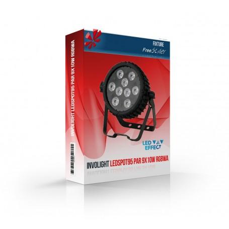 Involight LEDSPOT95 PAR 9x10W RGBWA