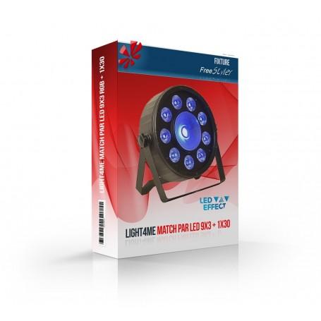 Light4me MATCH PAR LED 9x3W RGB + 1x30W