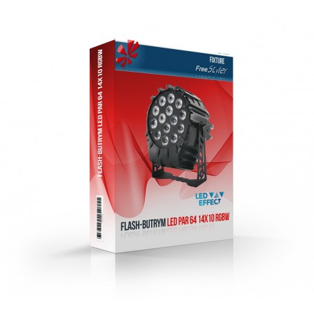 Flash LED PAR 64 14x10 RGBW