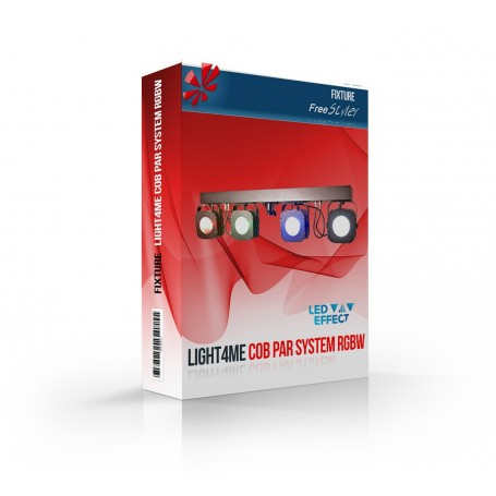Light4me COB PAR System RGBW 4x30 MkII