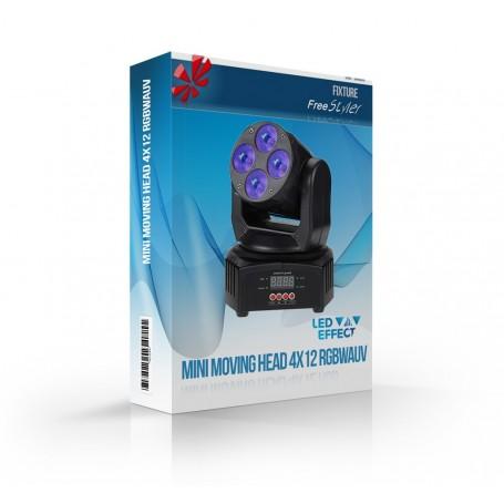 Mini Moving Head 4x12 RGBWAUV