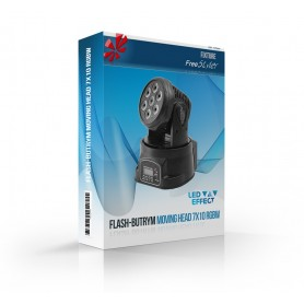 Flash Moving Head 7x10 RGBW ver.3