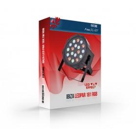 Ibiza LED PAR 18x1 RGB