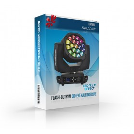 Flash-Butrym LED BIG-EYE KALEIDOSCOPE Moving Head 19x15W Osram