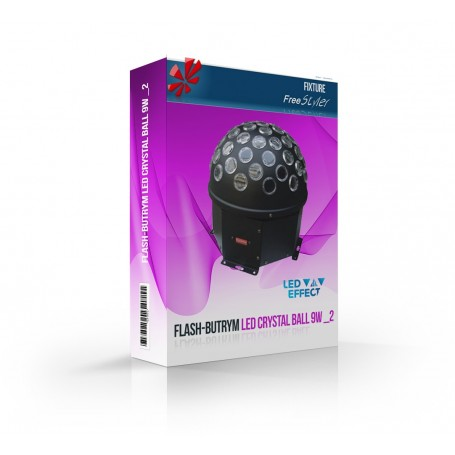 Flash Led Crystal Ball 9W _2