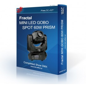 Fractal Mini LED GOBO SPOT 60 PRISM - SHOW DMX