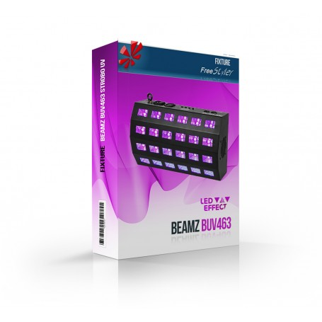 BeamZ BUV463 LED UV STROBO