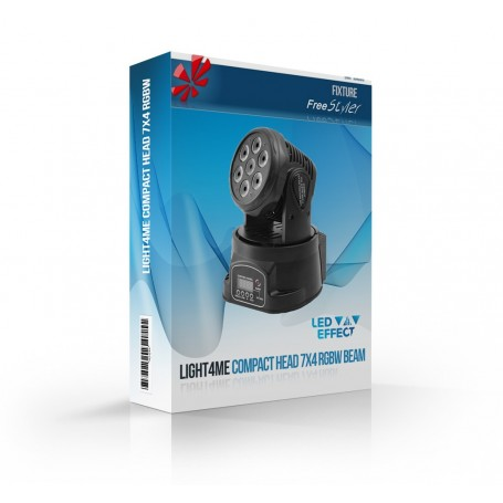 Light4me COMPACT MOVING HEAD 7x4W LED RGBW BEAM