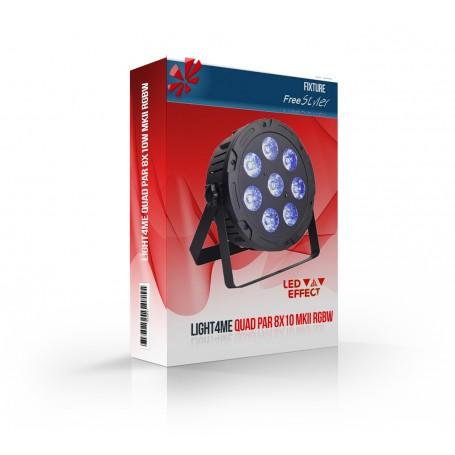 Light4me QUAD PAR 8x10 MKII RGBW