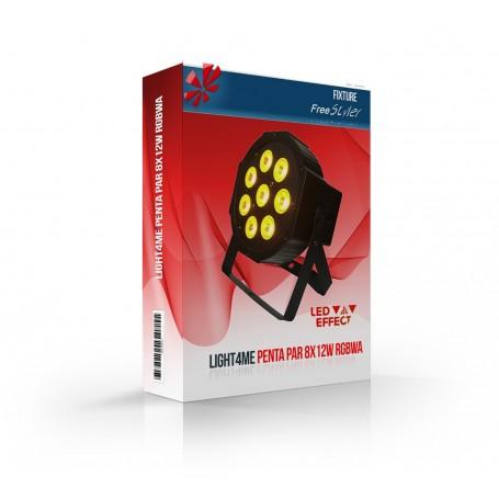 Light4me PENTA PAR 8x12W RGBWA (MkII)
