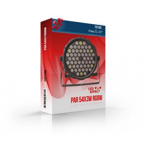 LED PAR 54x3 RGBW