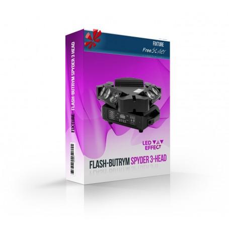 Flash Butrym LED Spyder 3-HEAD