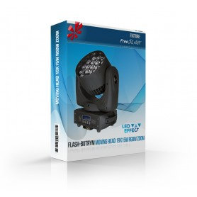 Flash-Butrym MOVING HEAD 19x15W RGBW LED ZOOM