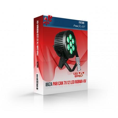Ibiza PAR CAN 7x12 LED RGBWA-UV