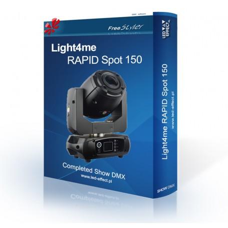 Light4me RAPID Spot 150 - SHOW DMX