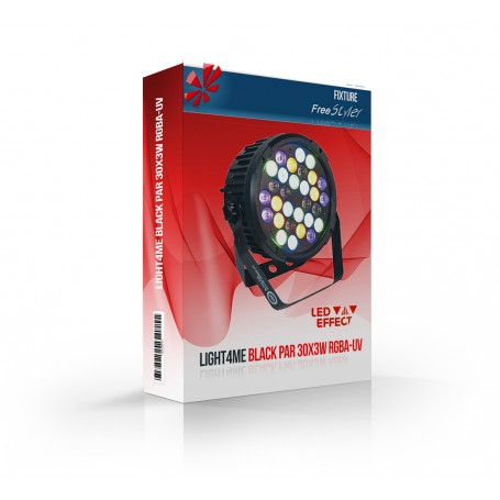 Light4me BLACK PAR 30x3W RGBA-UV
