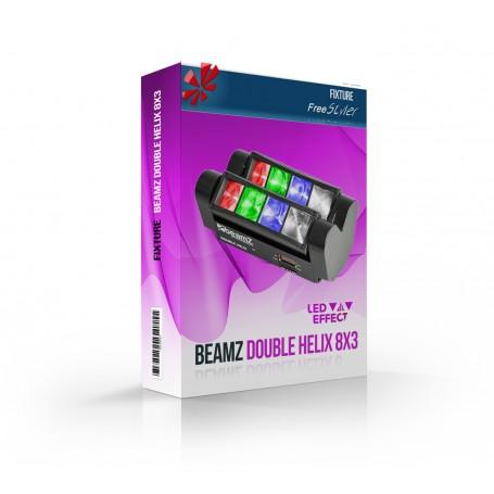 BeamZ Double Helix 8x3 RGBW