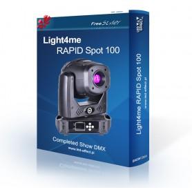 Light4me RAPID Spot 100 - SHOW DMX
