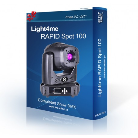 Light4me RAPID Spot 100 - SHOW DMX