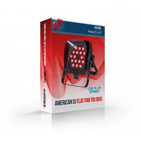 American DJ FLAT PAR TRI18XS