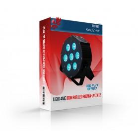 Light4me IRON PAR LED RGBWA-UV 7x12W