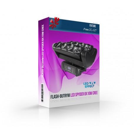Flash LED Spyder 8x10W CREE